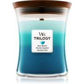 Woodwick Trilogy Gentle Rain illatos gyertya  275 g közepes