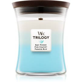 Woodwick Trilogy Fresh & Clean Duftkerze  275 g mittlere