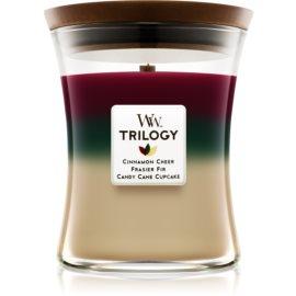 Woodwick Trilogy Christmas Classic candela profumata 275 g medio