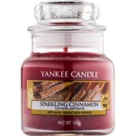 Yankee Candle Sparkling Cinnamon illatos gyertya  104 g Classic kis méret