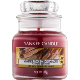 Yankee Candle Sparkling Cinnamon candela profumata 104 g Classic piccola