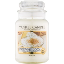Yankee Candle Spiced White Cocoa ароматна свещ  623 гр. Classic голяма