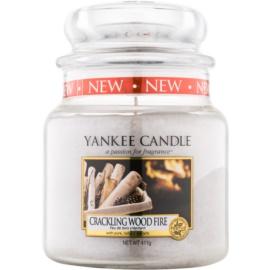 Yankee Candle Crackling Wood Fire świeczka zapachowa  410 g Classic średnia
