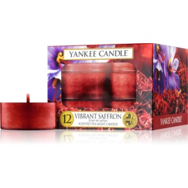 Yankee Candle Vibrant Saffron Tealight Candle 12 pc