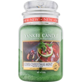 Yankee Candle Cool Christmas Mint vonná svíčka 623 g Classic velká