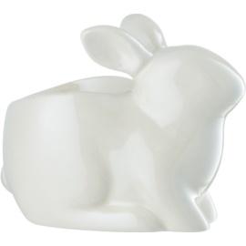 Yankee Candle Pearlescent White Bunny Керамичен свещник с чаена свещ