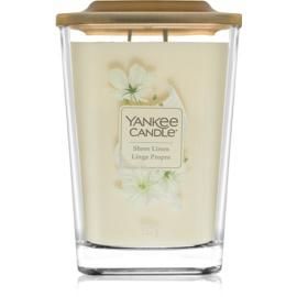 Yankee Candle Elevation Sheer Linen illatos gyertya  552 g nagy