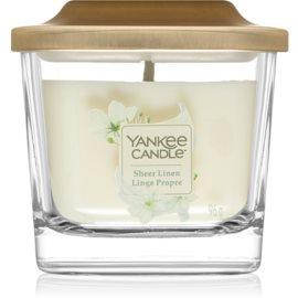 Yankee Candle Elevation Sheer Linen illatos gyertya  96 g kicsi