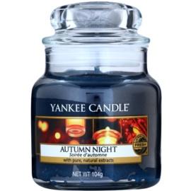 Yankee Candle Autumn Night illatos gyertya  105 g Classic kis méret