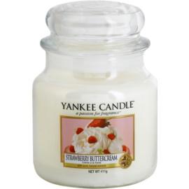 Yankee Candle Strawberry Buttercream illatos gyertya  411 g Classic közepes méret