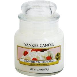 Yankee Candle Strawberry Buttercream illatos gyertya  104 g Classic kis méret