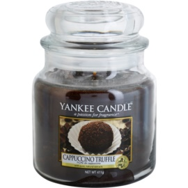 Yankee Candle Cappuccino Truffle illatos gyertya  411 g Classic közepes méret