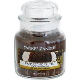 Yankee Candle Cappuccino Truffle vonná svíčka 104,5 g Classic malá