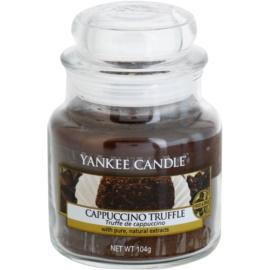 Yankee Candle Cappuccino Truffle illatos gyertya  104,5 g Classic kis méret