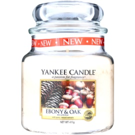 Yankee Candle Ebony & Oak Duftkerze  411 g Classic medium