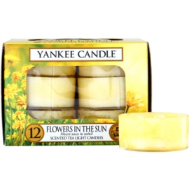 Yankee Candle Flowers in the Sun čajová svíčka 12 x 9,8 g