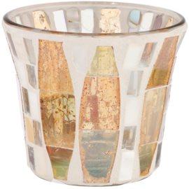 Yankee Candle Gold Wave Mosaic Üveg gyertyatartó fogadalmi gyertya alá