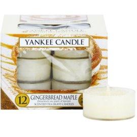 Yankee Candle Gingerbread Maple čajová svíčka 12 x 9,8 g