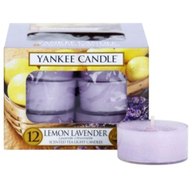 Yankee Candle Lemon Lavender świeczka typu tealight 12 x 9,8 g