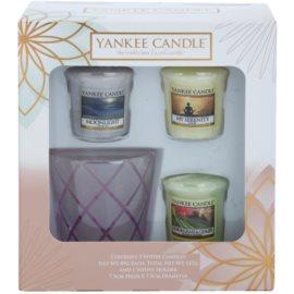 Yankee Candle My Serenity Geschenkset I. Votivkerze 3 x 49 g + Kerzenhalter für Votivkerzen