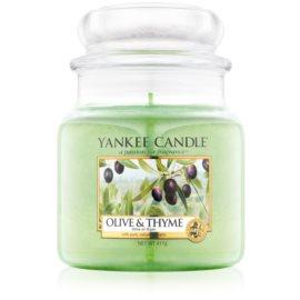 Yankee Candle Olive & Thyme dišeča sveča  411 g Classic srednja