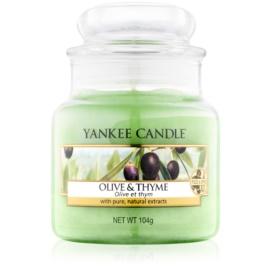 Yankee Candle Olive & Thyme dišeča sveča  104 g Classic majhna
