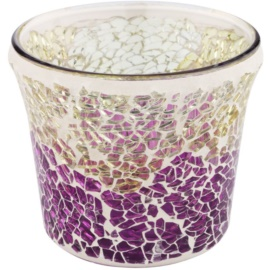 Yankee Candle Purple & Gold Crackle Glass Holder for Votive Candle