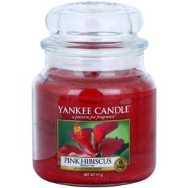 Yankee Candle Pink Hibiscus illatos gyertya  411 g Classic közepes méret