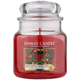 Yankee Candle Red Apple Wreath vonná sviečka 411 g Classic stredná