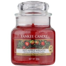 Yankee Candle Red Apple Wreath vonná sviečka 104 g Classic malá