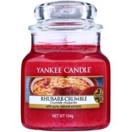 Yankee Candle Rhubarb Crumble illatos gyertya  105 g Classic kis méret