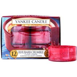 Yankee Candle Rhubarb Crumble čajová svíčka 12 x 9,8 g