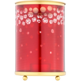Yankee Candle Red and Gold Snowfall Glass Aroma Lamp