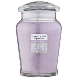 Yankee Candle Silver Lavender vela perfumado 340 g intermédio