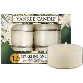 Yankee Candle Sparkling Snow čajová svíčka 12 x 9,8 g