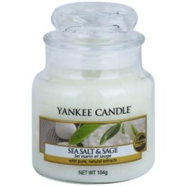 Yankee Candle Sea Salt & Sage świeczka zapachowa  105 g Classic mała