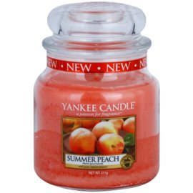 Yankee Candle Summer Peach vonná svíčka 411 g Classic střední