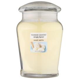 Yankee Candle Sweet Vanilla ароматизована свічка  340 гр середня