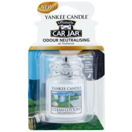 Yankee Candle Clean Cotton illat autóba   felakasztható autóillatosító