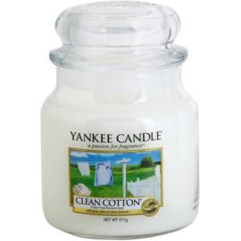 Yankee Candle Clean Cotton illatos gyertya  411 g Classic közepes méret