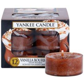Yankee Candle Vanilla Bourbon čajová svíčka 12 x 9,8 g