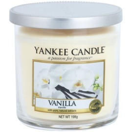 Yankee Candle Vanilla bougie parfumée 198 g Décor petite