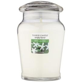 Yankee Candle White Jasmine vonná svíčka 340 g střední