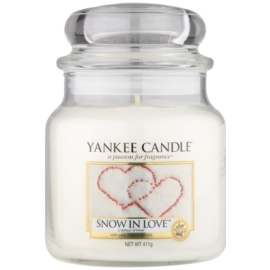 Yankee Candle Snow in Love vela perfumada  411 g Classic mediana