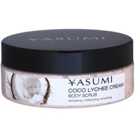 Yasumi Body Care Coco Lychee Cream zjemňující tělový peeling  200 g