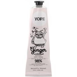 Yope Ginger & Sandalwood přírodní krém na ruce pro výživu a hydrataci  100 ml