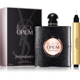 Yves Saint Laurent Black Opium zestaw upominkowy – wygodne opakowanie  woda perfumowana 90 ml + Korektor Touche Eclat No.2 2,5 ml