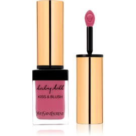 Yves Saint Laurent Baby Doll Kiss & Blush šminka in rdečilo v enem odtenek 02 Rose Frivole  10 ml