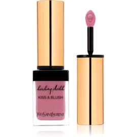 Yves Saint Laurent Baby Doll Kiss & Blush šminka in rdečilo v enem odtenek 9 Rose Épicurien  10 ml