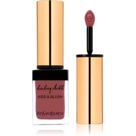 Yves Saint Laurent Baby Doll Kiss & Blush šminka za ustnice in lička z mat učinkom odtenek 10 Nude Insolent  10 ml